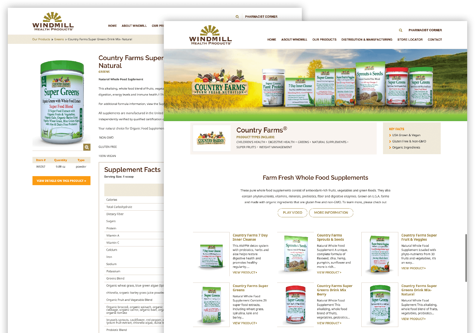 Country Farms Brand Pages