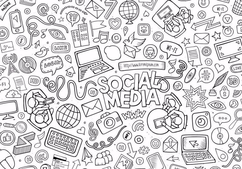 social media doodle