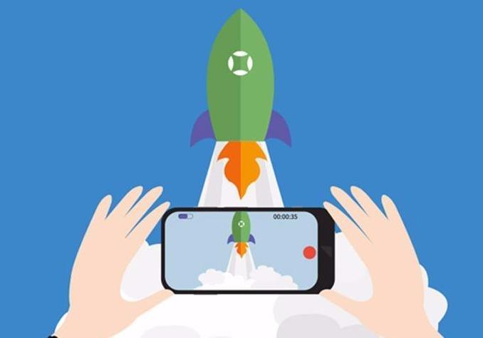 Video recording rocketship