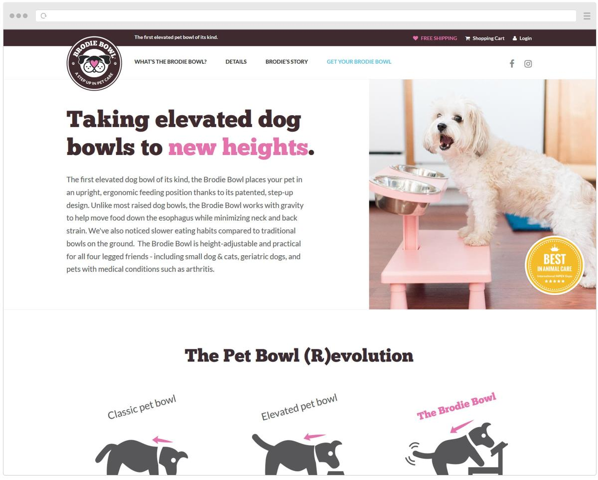Brodie Bowl website homepage