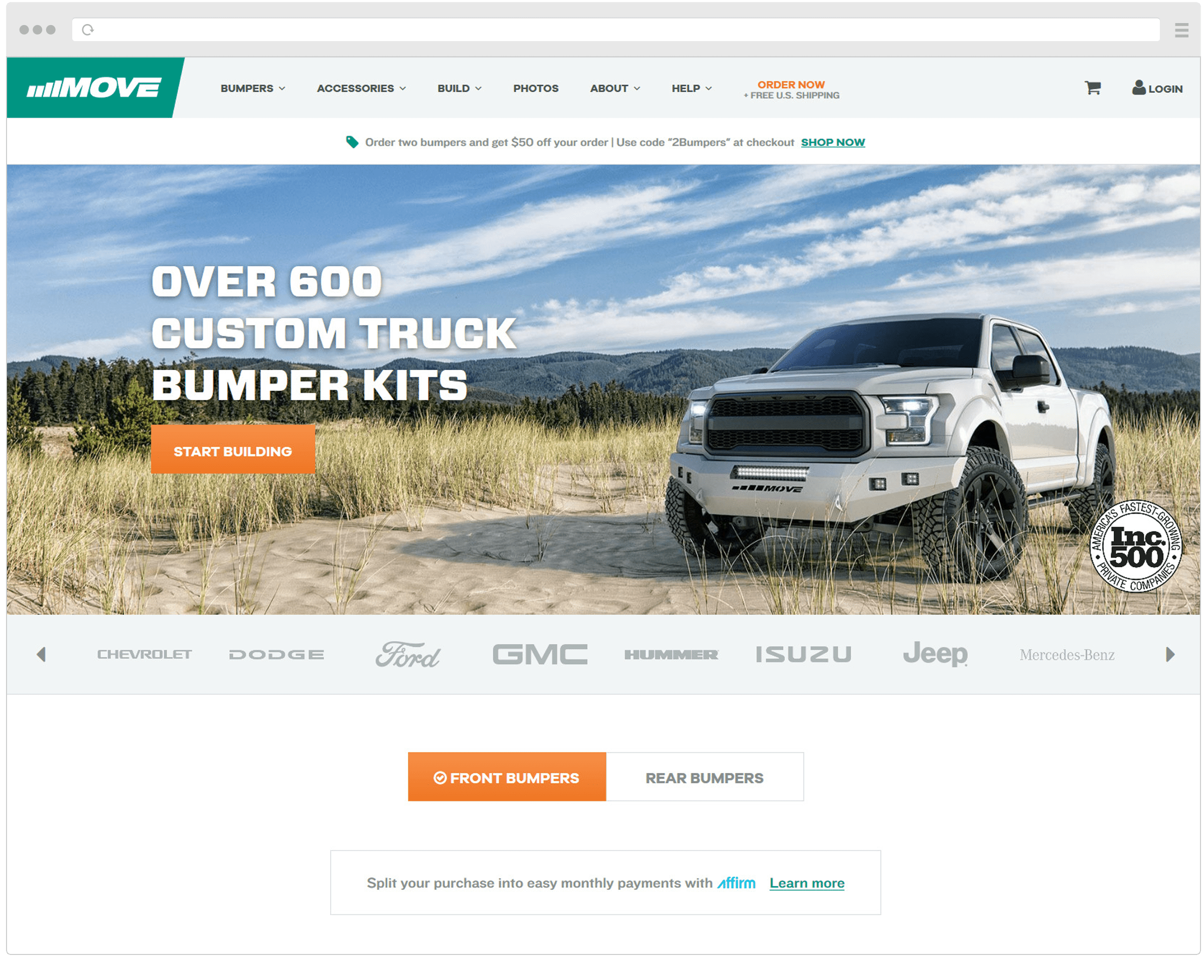 New MOVE Bumpers Homepage