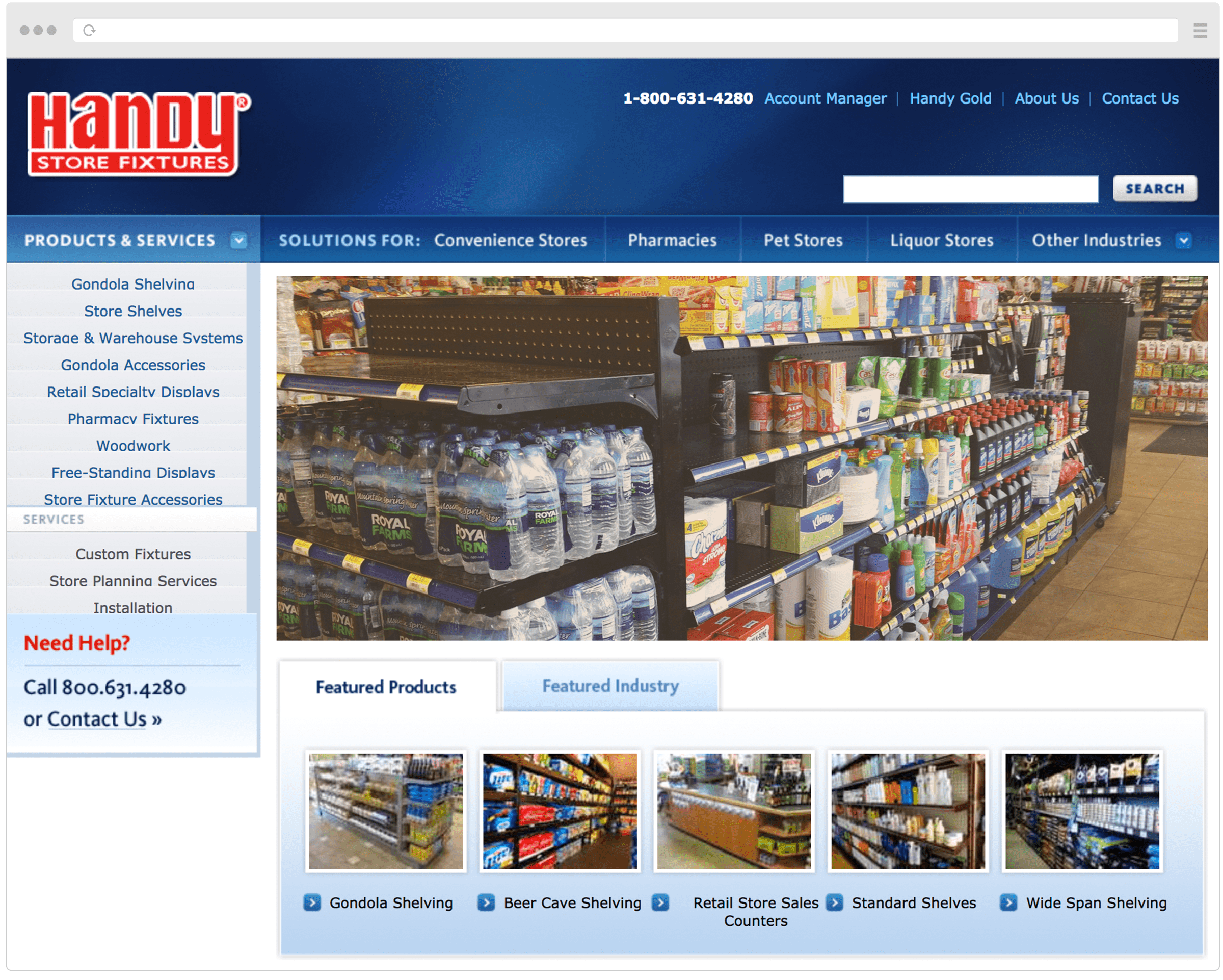 Old Handy Store Fixtures Homepage