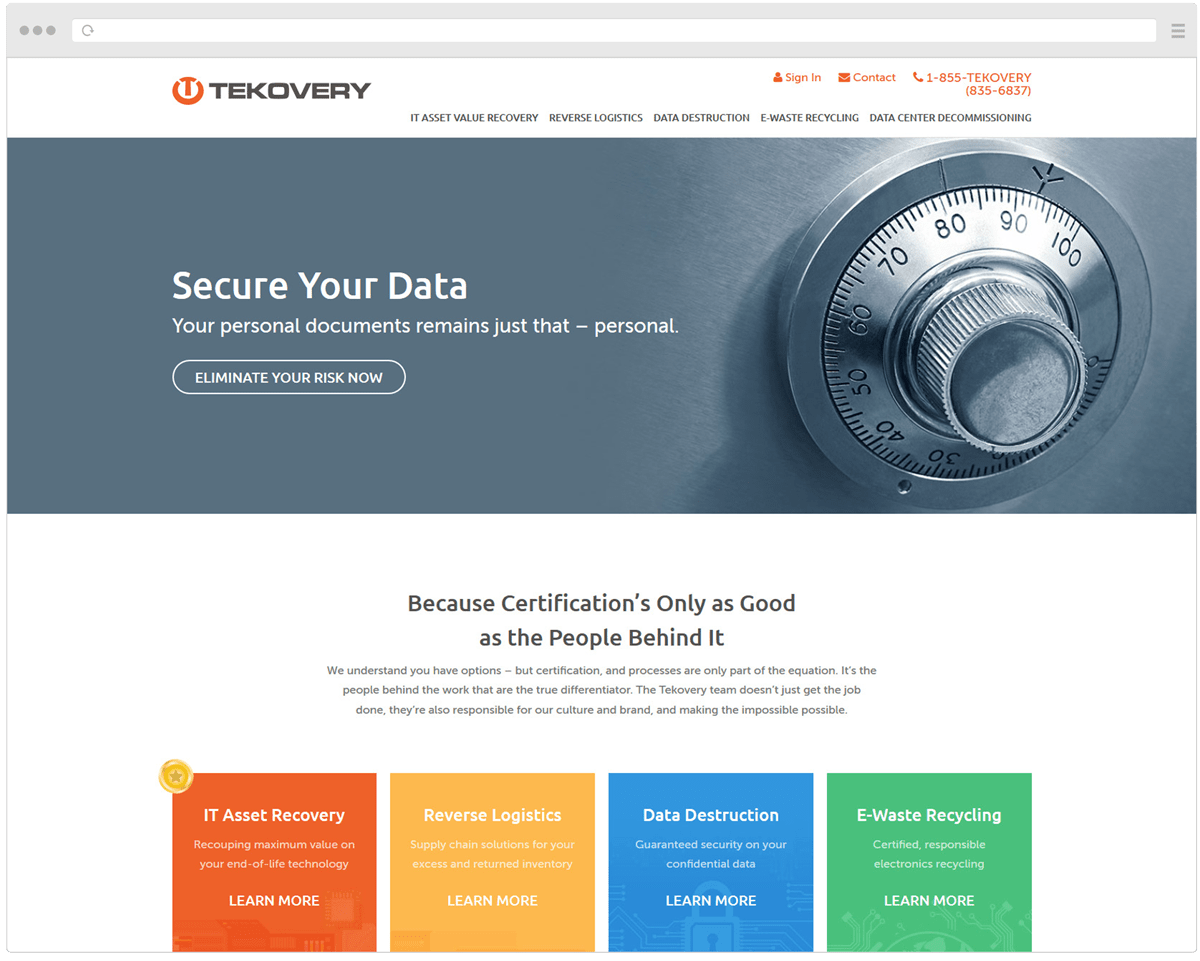 New Tekovery Homepage