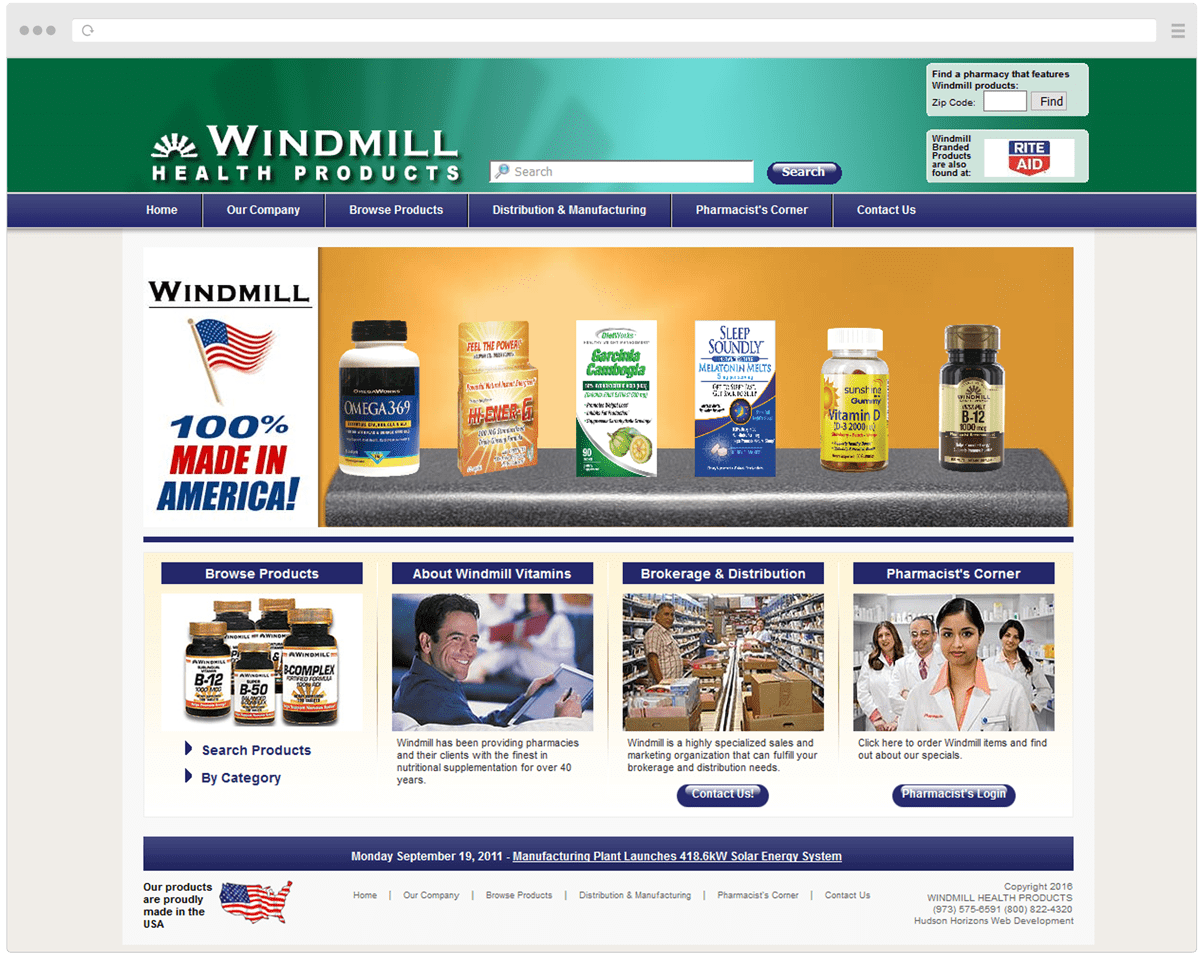 Old Windmill Health Products Homepage