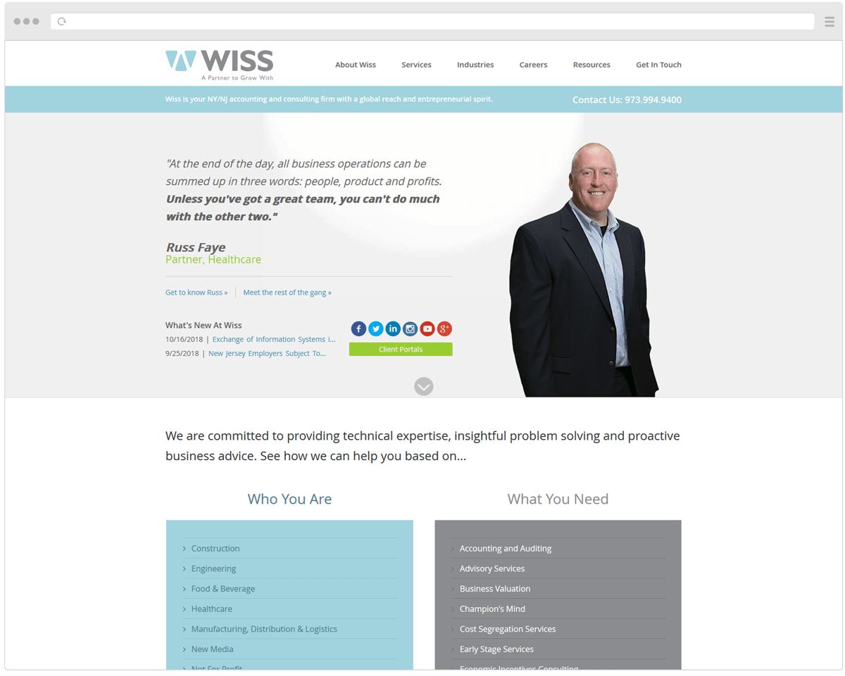 New Wiss Homepage