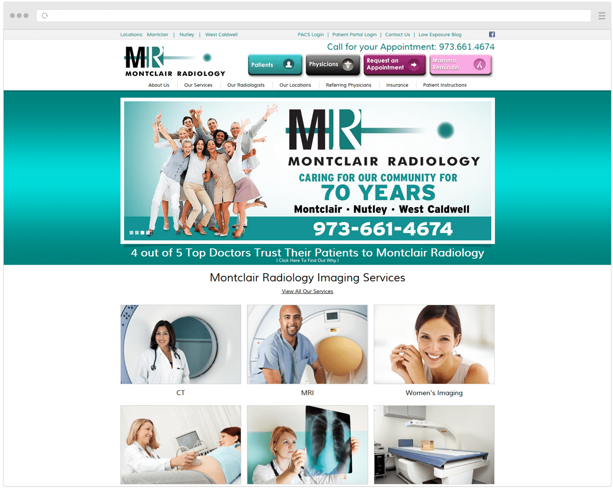 Old Montclair Radiology Homepage