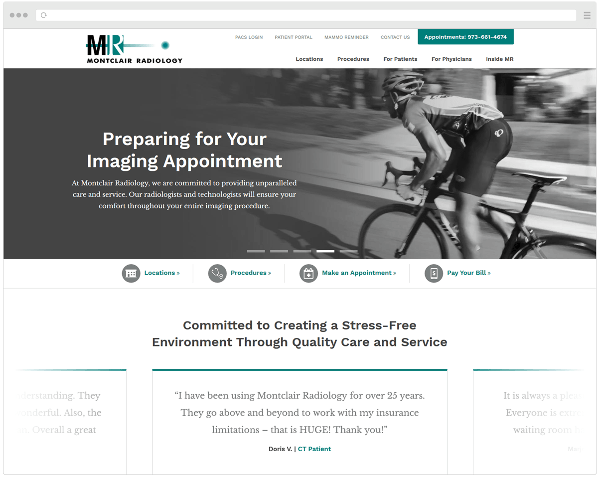 New Montclair Radiology Homepage