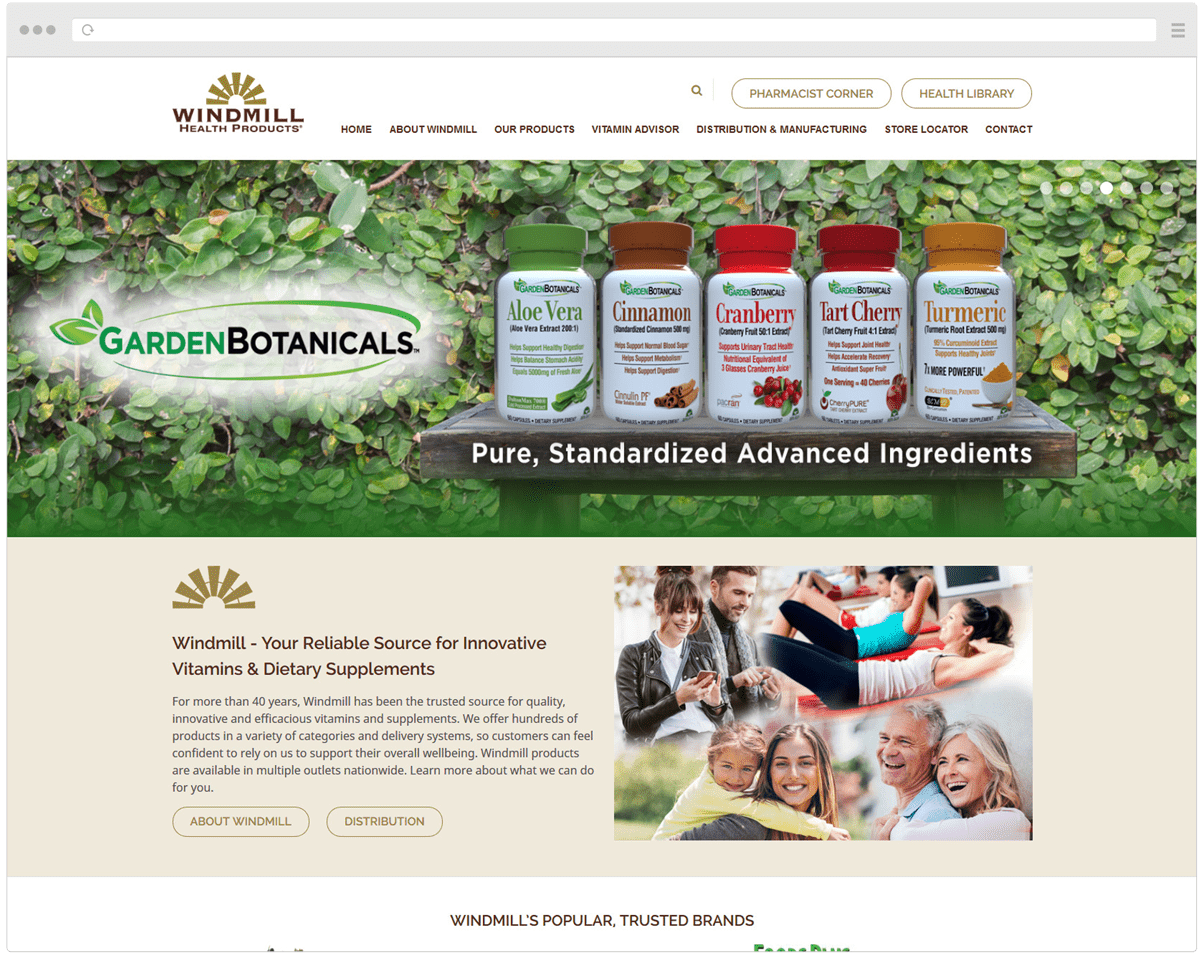 New Windmill Health Products Homepage