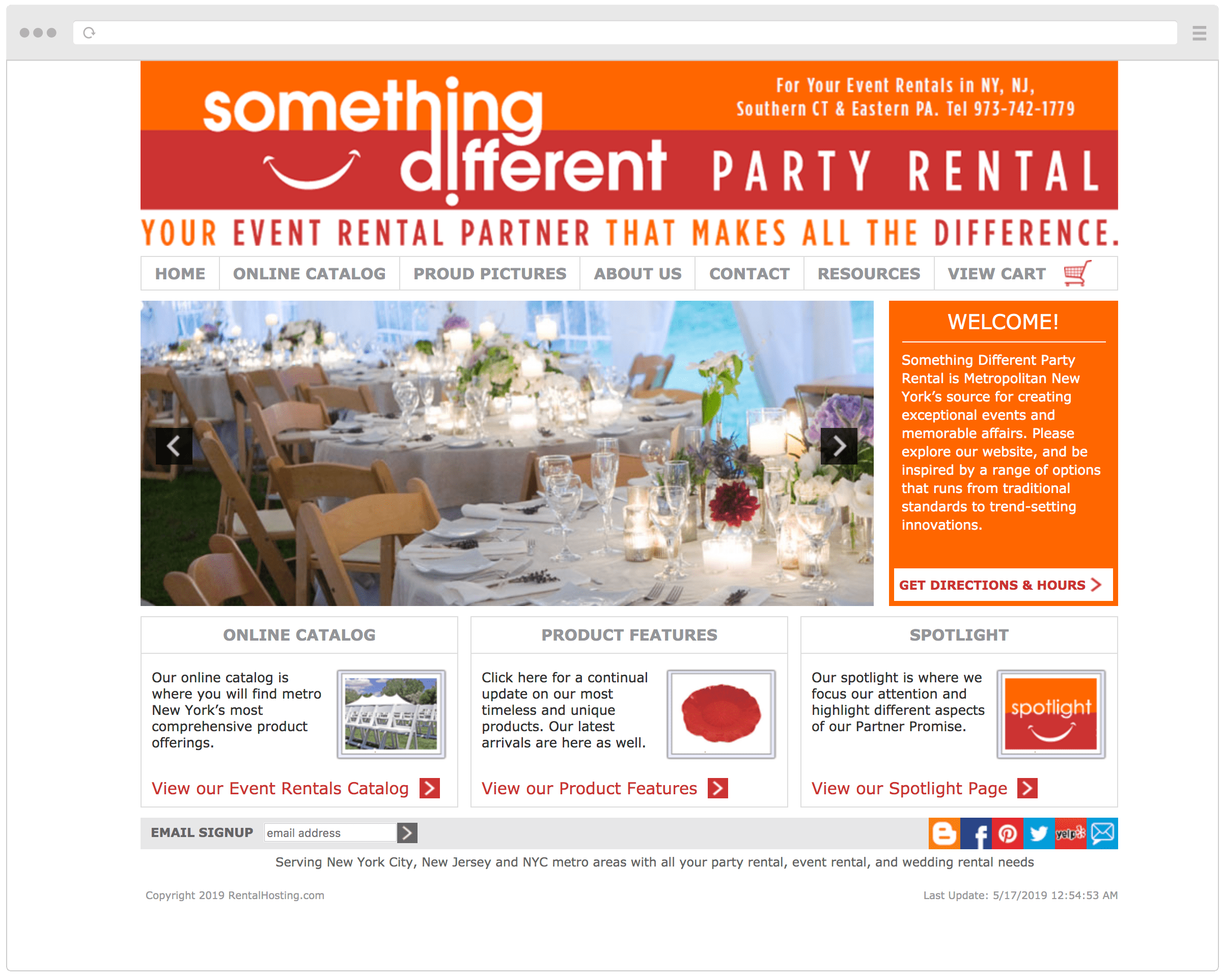 Old Something Different Party Rental Website