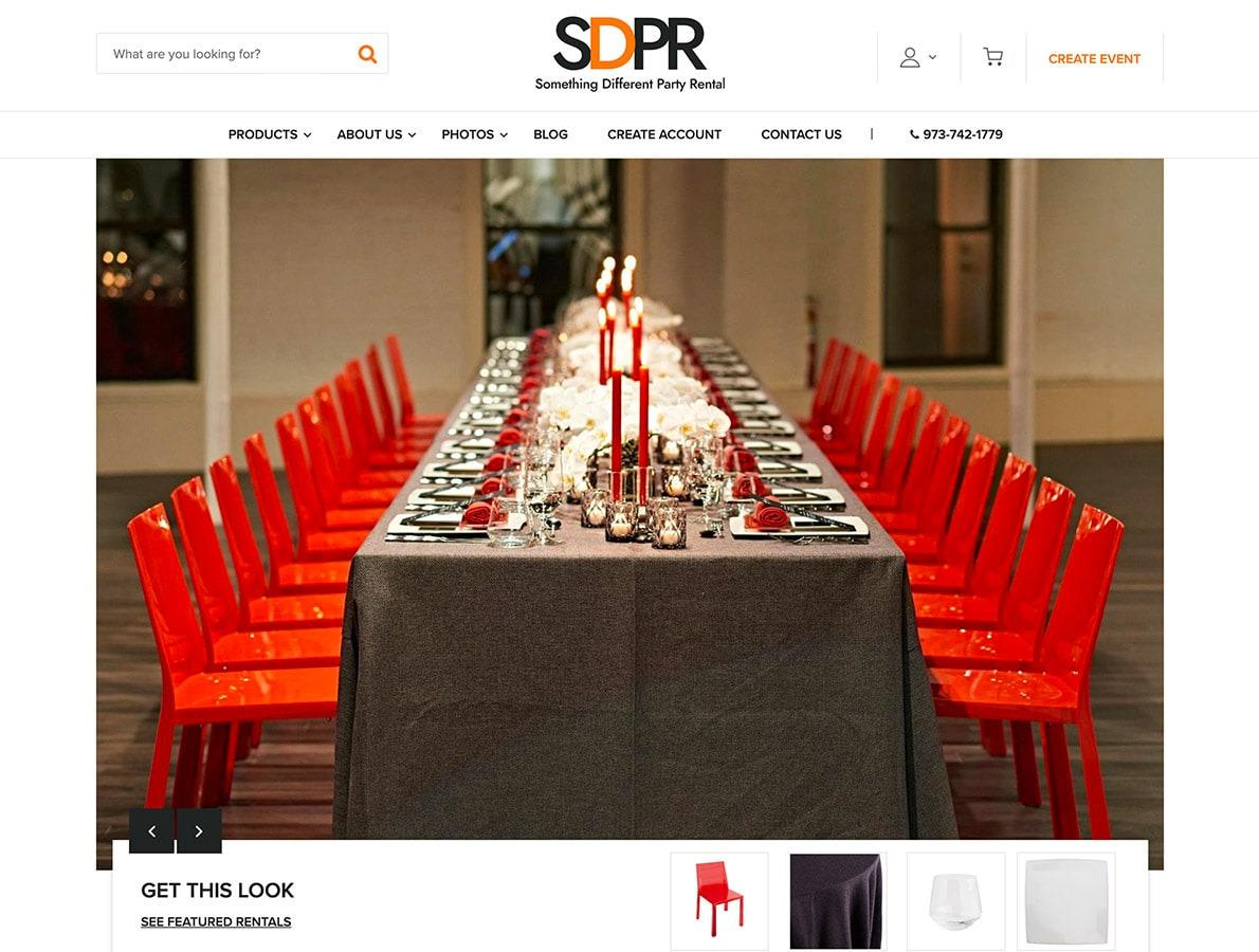 screenshots of SDPR website