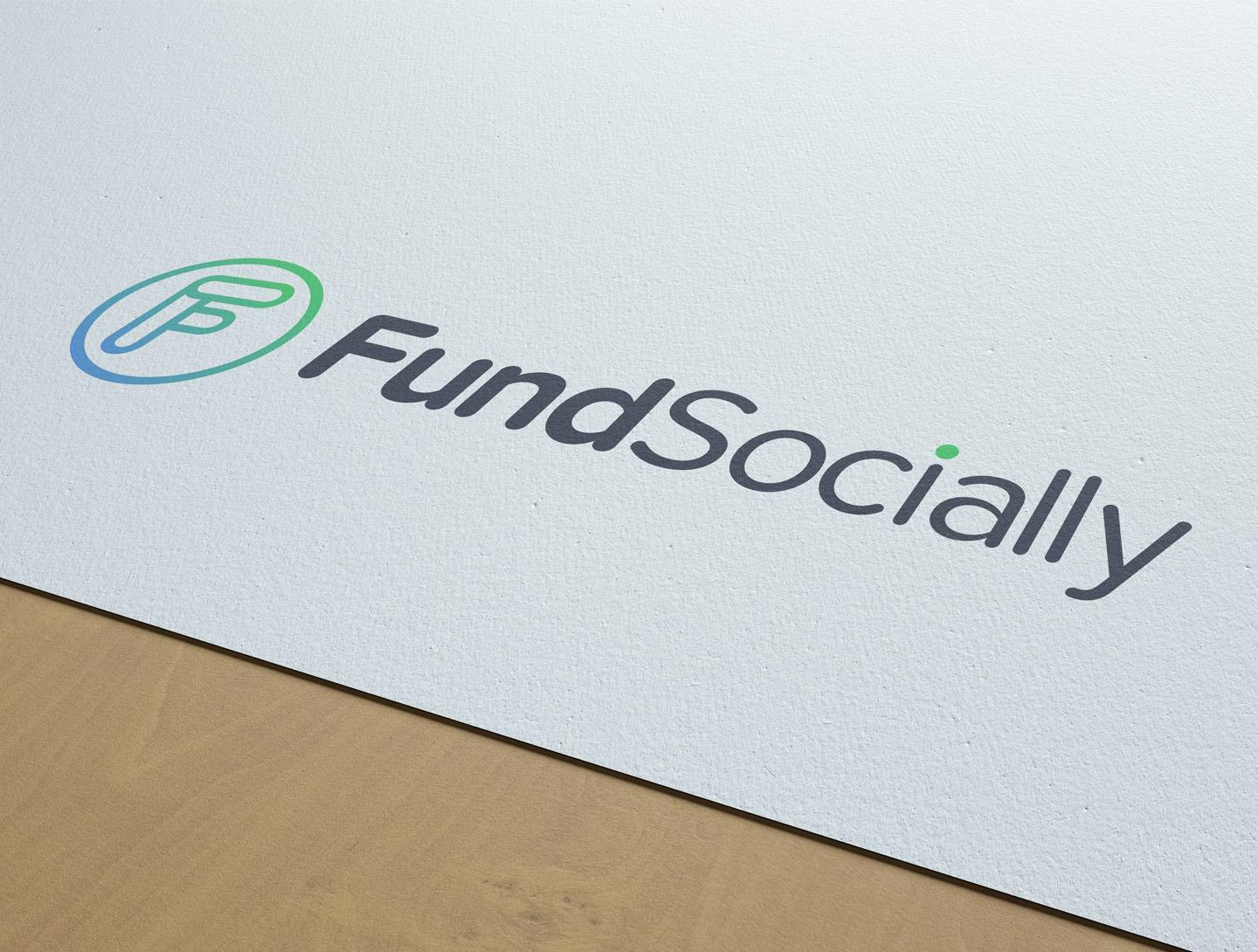 FundSocially logo on white textured paper