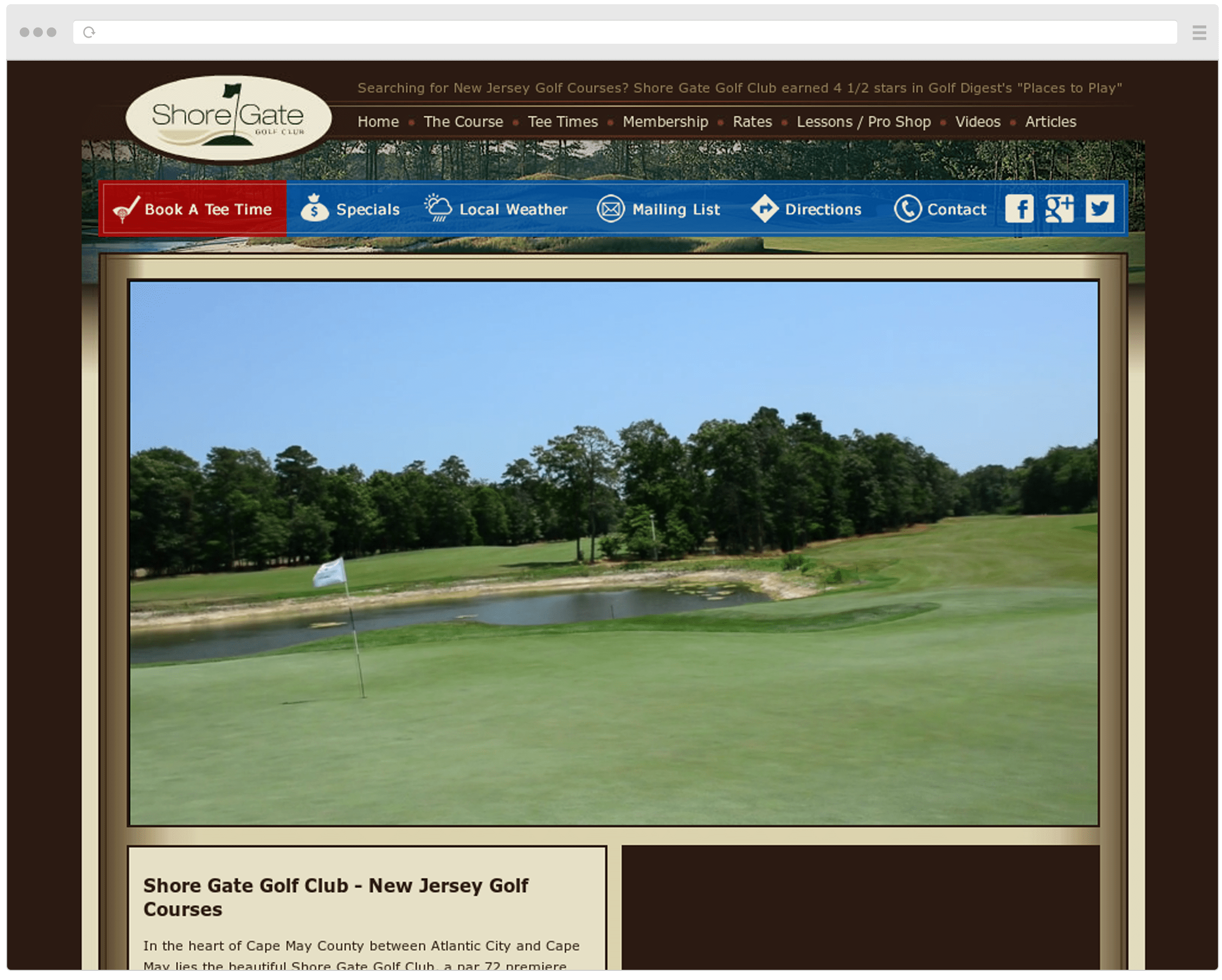 Shore Gate Golf Club Old Website