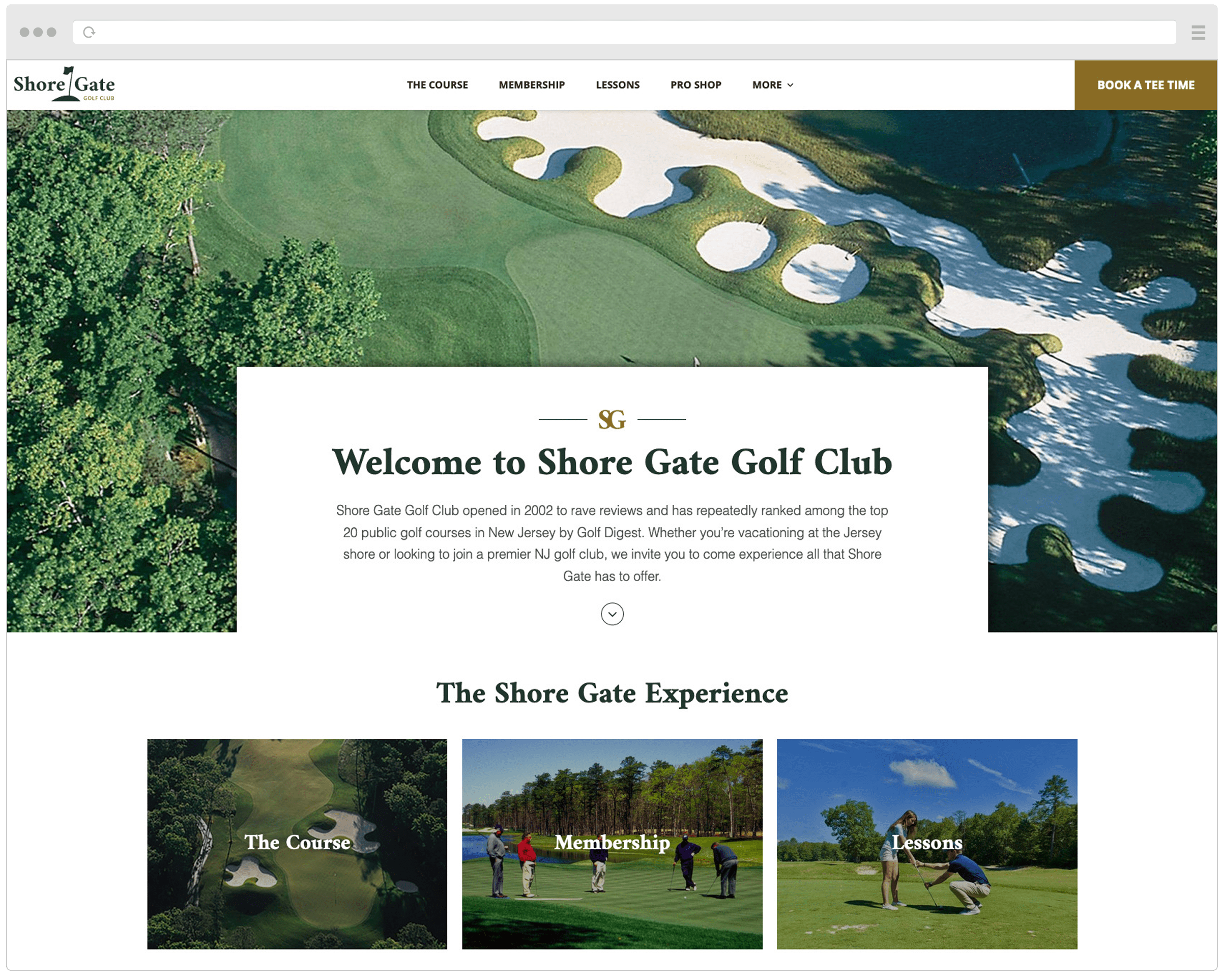 Shore Gate Golf Club New Website