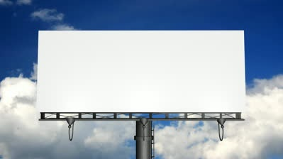 empty billboard site content