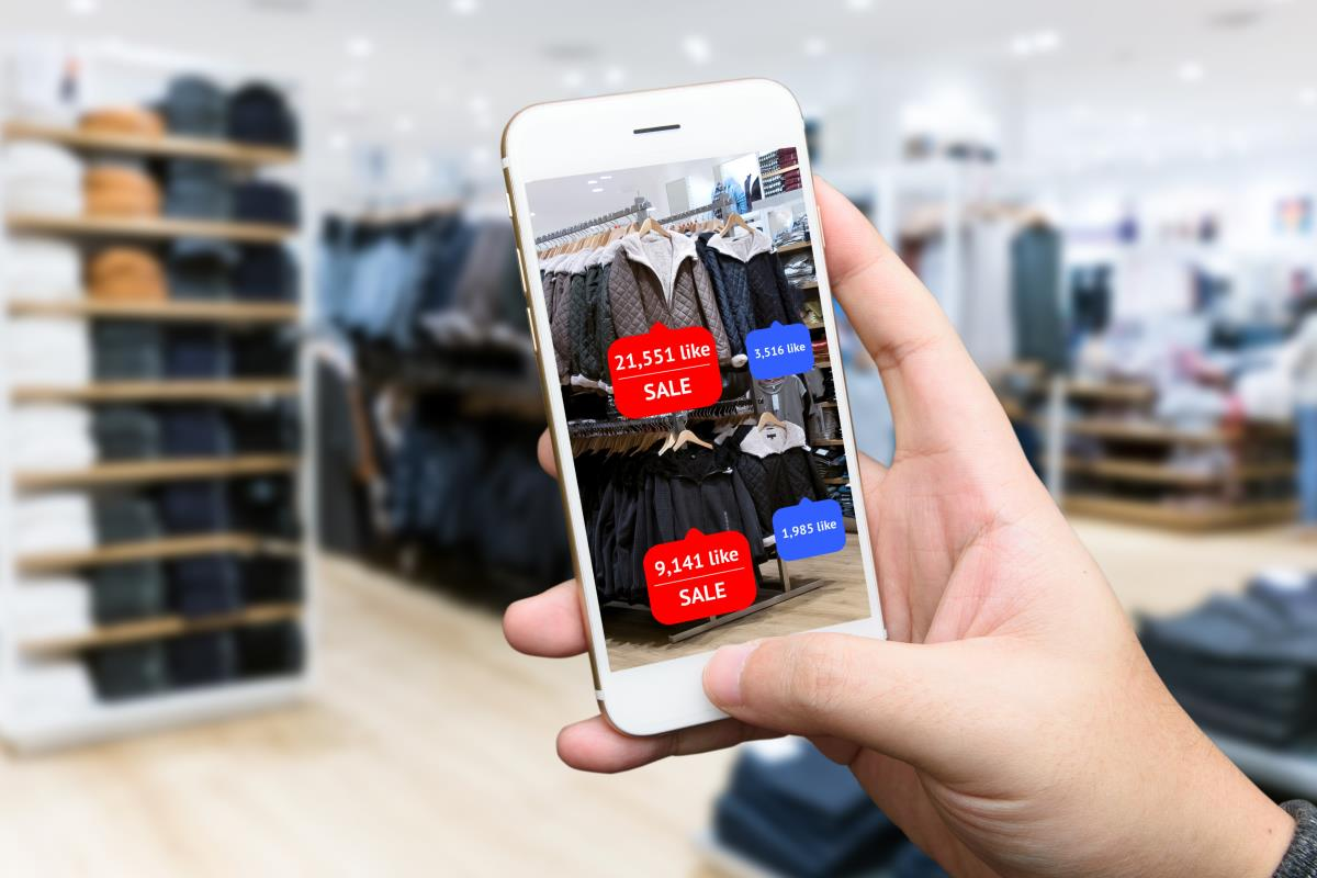 Augmented reality used in retail stores
