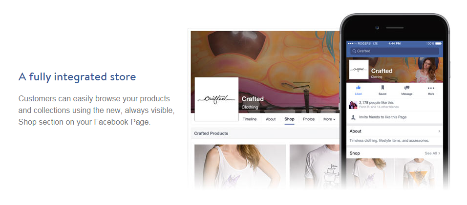 Facebook store integrates with Shopify merchants for social commerce
