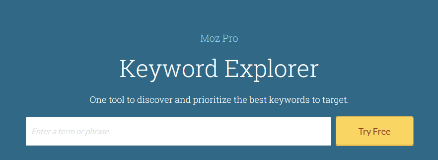 MOZ keyword research tool
