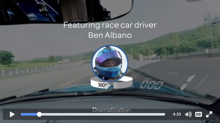 Example of virtual reality 360-degree Facebook video ad