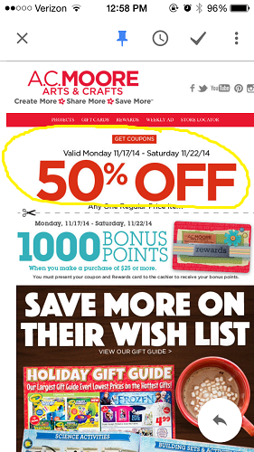 email marketing coupon examples