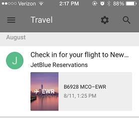 Inbox app check flight