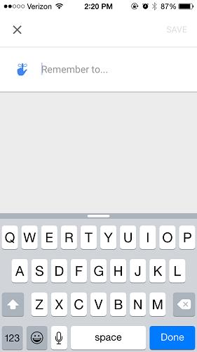 Inbox app create reminders