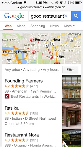 google local results example