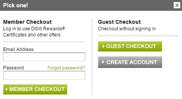 Ecommerce CRO Guest Checkout