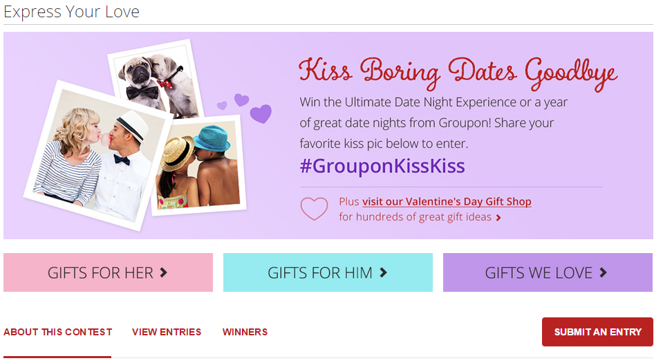 Groupon Valentine's Day Campaign 2015