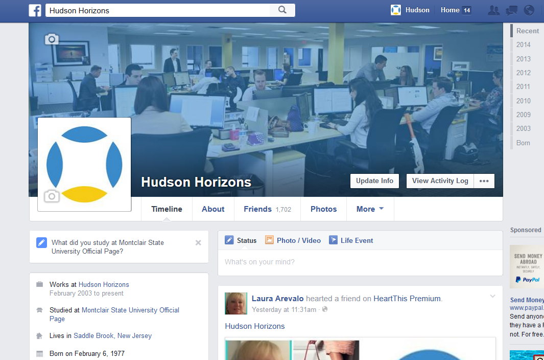 Hudson Integrated Web Agency Facebook Page