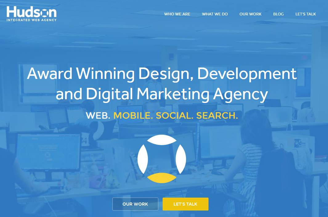 Hudson Integrated Web Agency Website Home Page