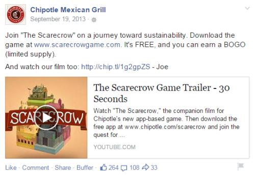 chipotle scarecrow social updates