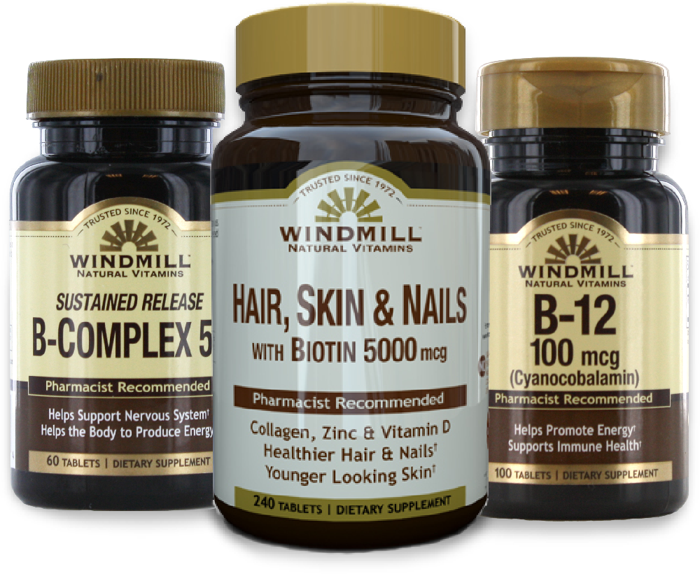 Windmill Natural Vitamins bottles