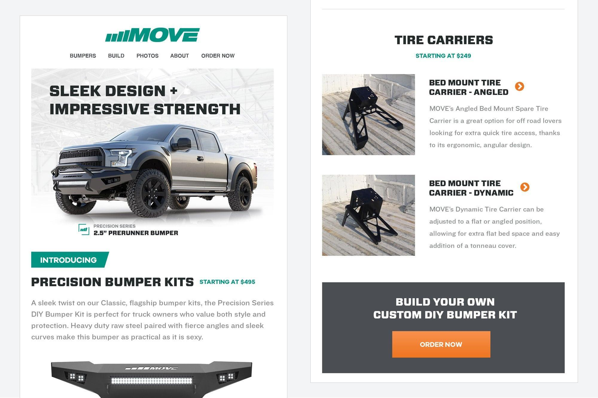 MOVE Bumpers Email Campaign